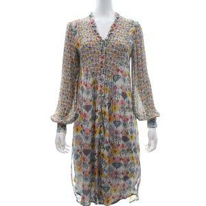 Blank London Long Sleeved Multi Print Dress